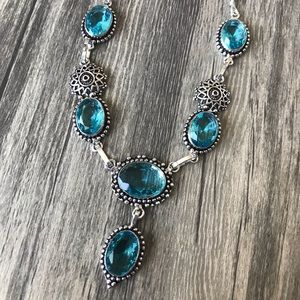 handcrafted in India Jewelry - Blue Topaz .925 Silver Necklace/Earrings